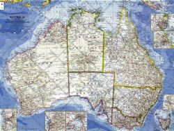 National Geographic Wall Maps of Australasia